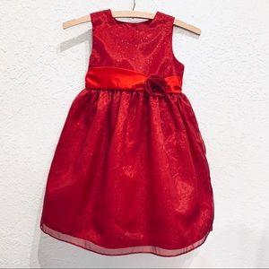 Marmellata Red Glitter Girls Party Princess Dress